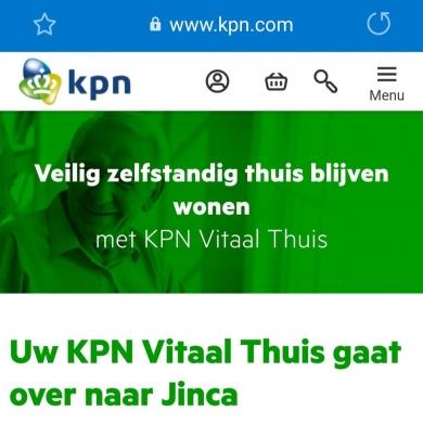 Jinca verwelkomt nieuwe Sensara klanten van KPN Vitaal thuis